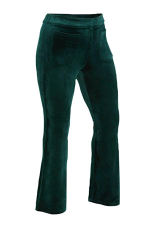 corduroy high waist broek Brynn donkergroen