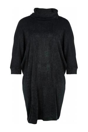 ribgebreide jurk Penelope donkergroen