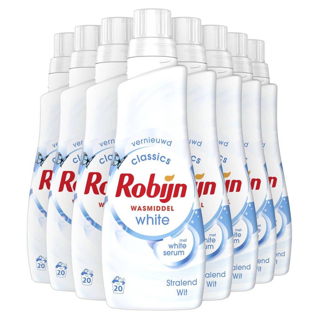 Robijn Vloeibaar Klein & Krachtig Stralend Wit wasmiddel - 160 wasbeurten