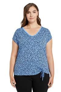 Tom Tailor My True Me T-shirt met panterprint blauw/donkerblauw, Blauw/donkerblauw