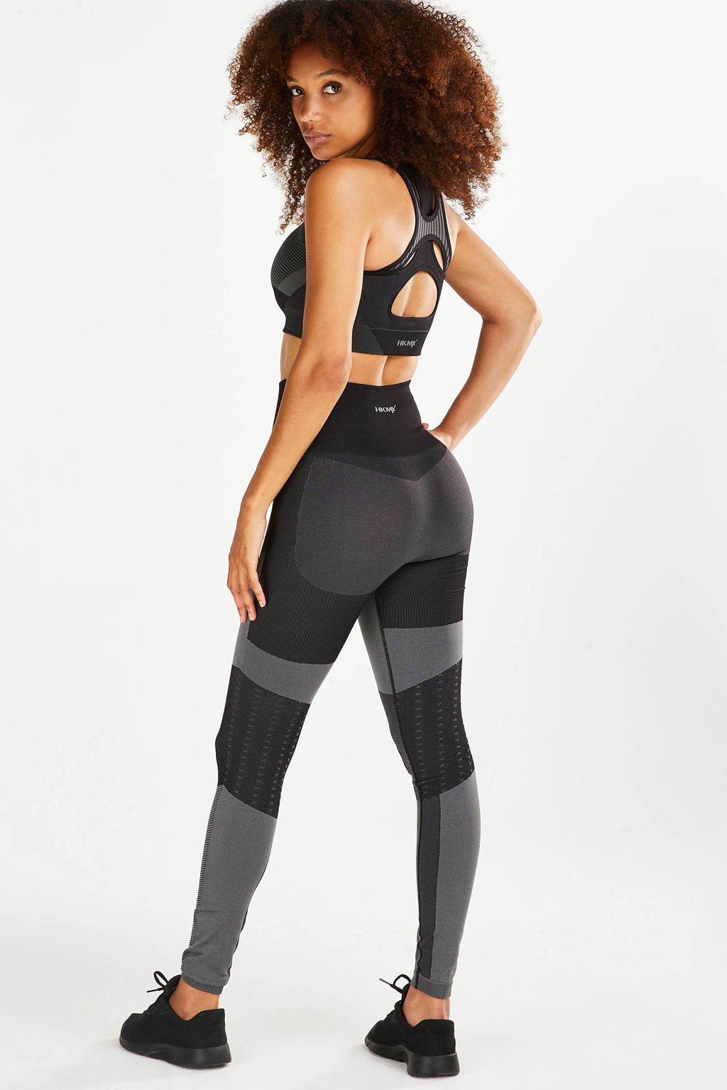 Hunkemöller sportbh The Motion Level 2 groen//zwart, Groen/zwart