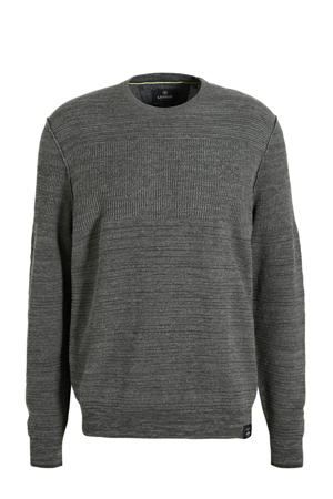 gemêleerde gebreide trui grijs