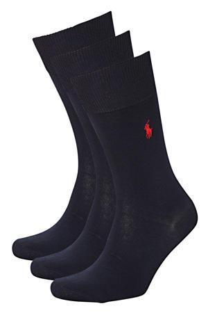 sokken MERCERIZED set van 3 paar marine
