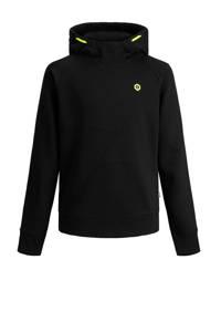 JACK & JONES JUNIOR hoodie Visual zwart/neon groen