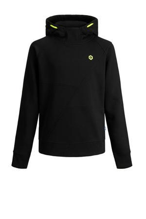 hoodie Visual zwart/neon groen