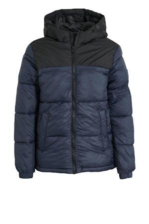 gewatteerde jas Drew zwart