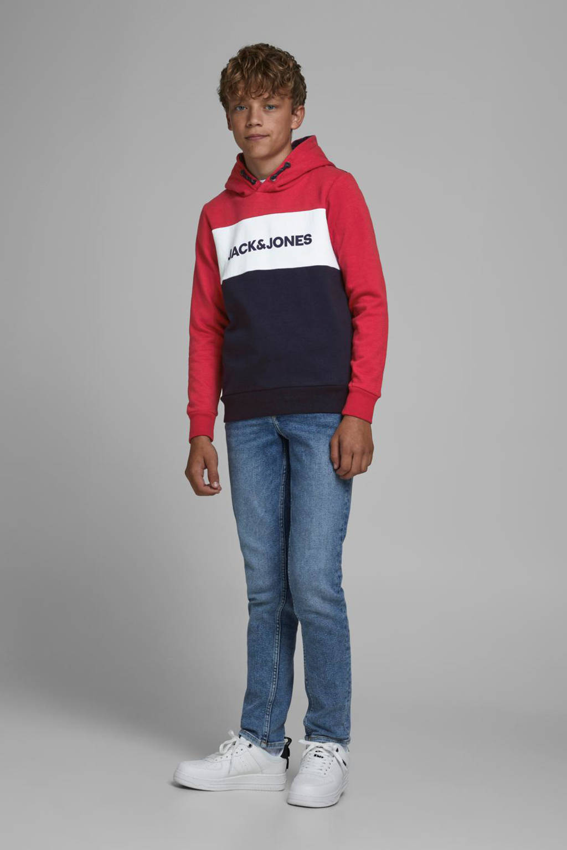 JACK & JONES JUNIOR hoodie JJELOGO met logo rood, Rood