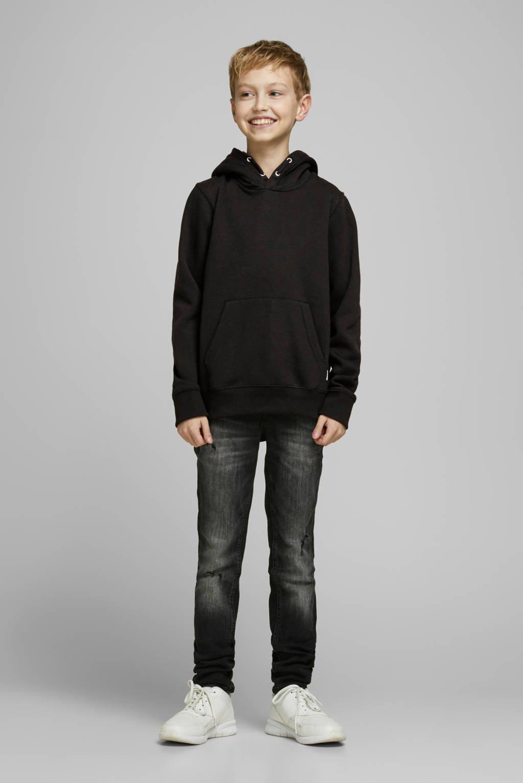JACK & JONES JUNIOR hoodie Soft zwart, Zwart