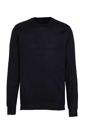 trui met wol donkerblauw