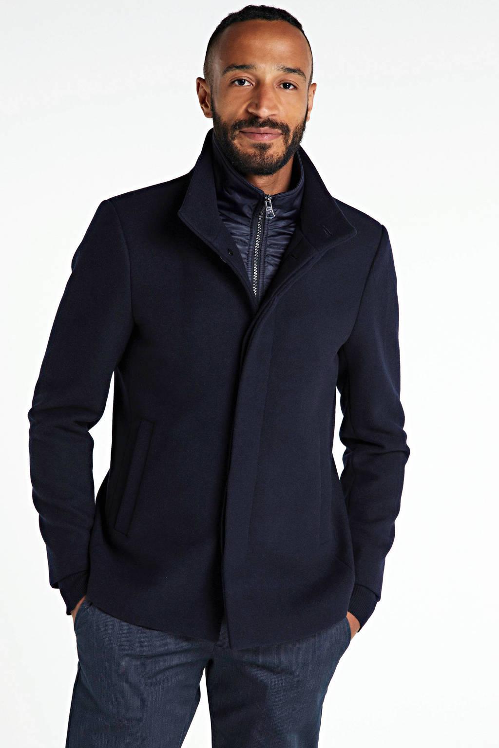 Matinique tussenjas met wol donkerblauw, Donkerblauw