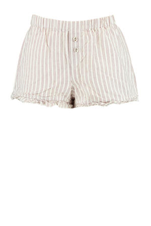 streep pyjamashort Lill wit/paars