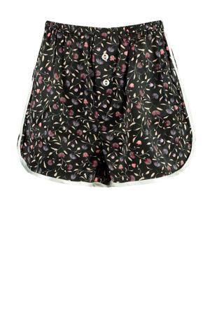 pyjamashort Lulu met all over print zwart