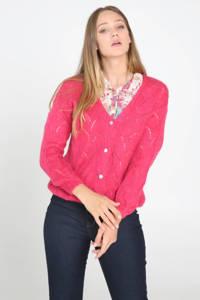 Cassis gebreid vest roze, Roze