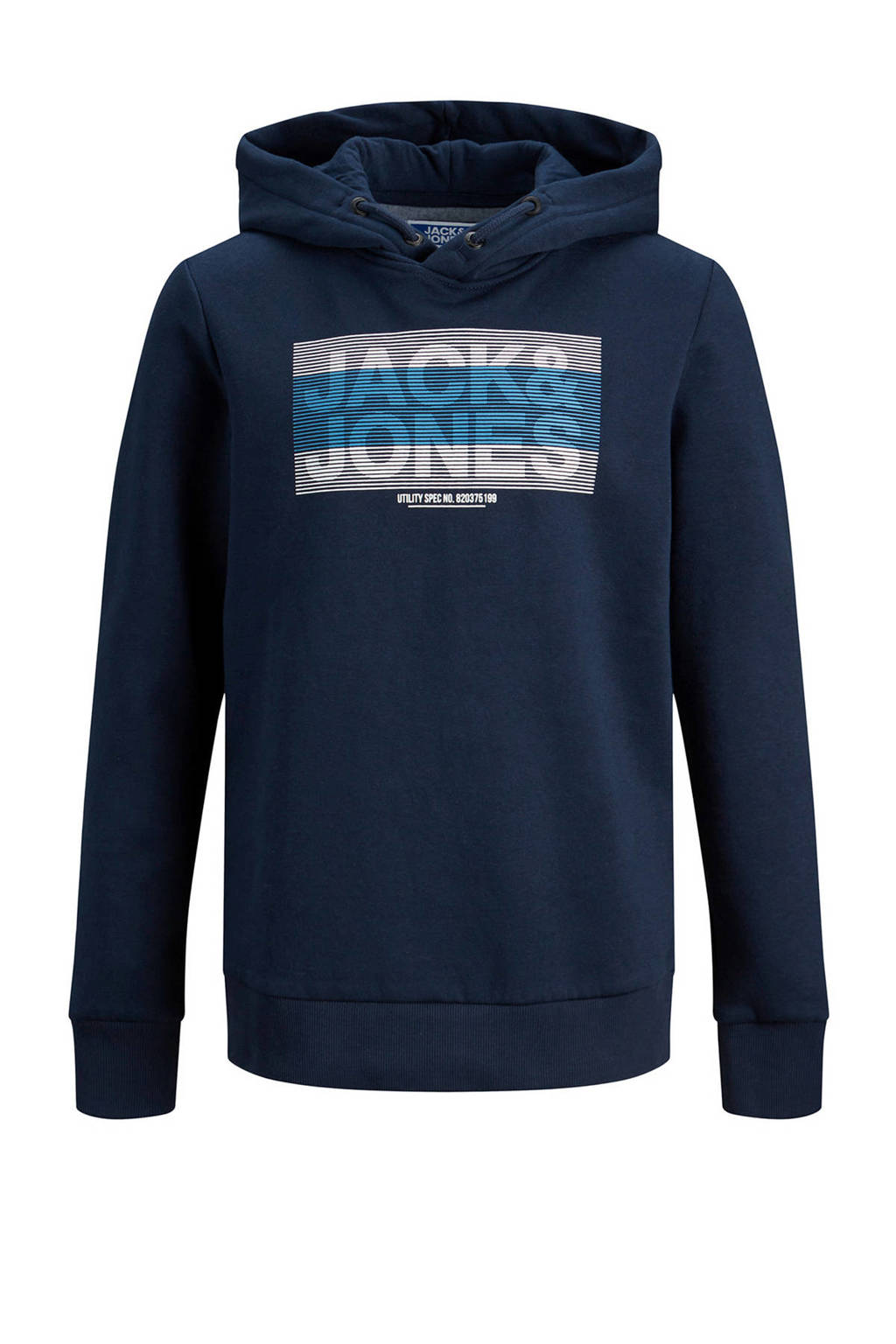 JACK & JONES JUNIOR hoodie Jumbo met logo donkerblauw, Donkerblauw