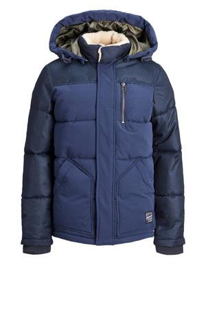 gewatteerde jas Heat donkerblauw/blauw