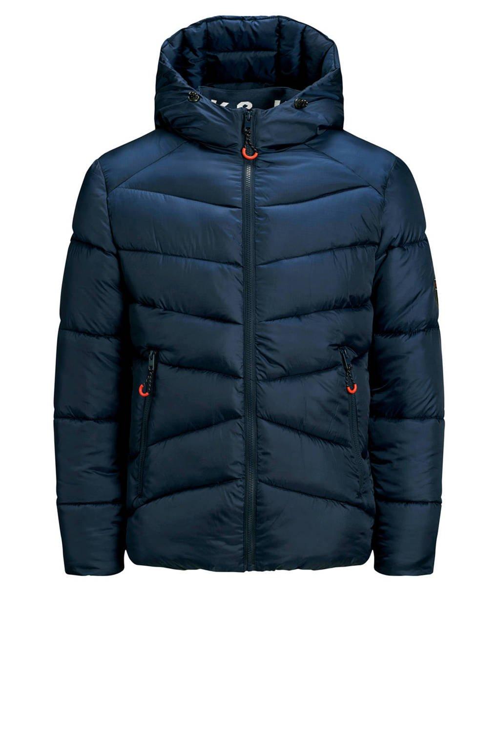 JACK & JONES JUNIOR gewatteerde winterjas Ander donkerblauw, Donkerblauw