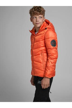 gewatteerde winterjas Ander donker oranje