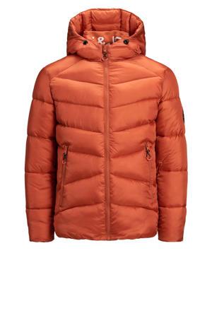 gewatteerde jas Ander donker oranje
