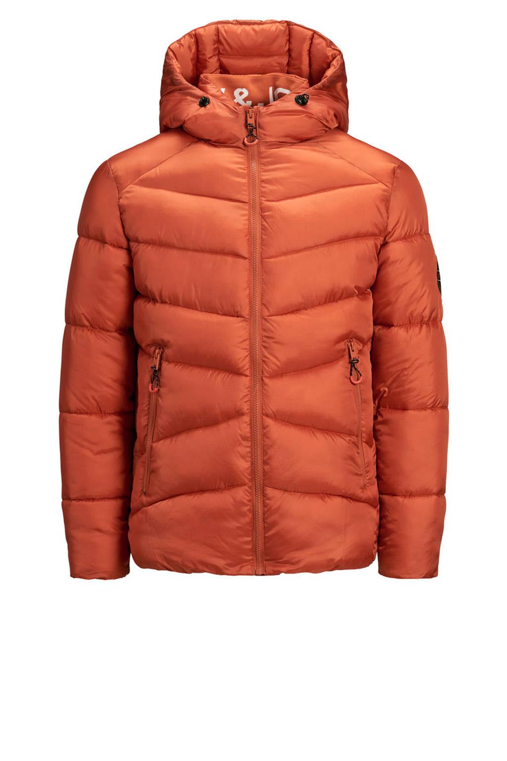 JACK & JONES JUNIOR gewatteerde winterjas Ander donker oranje, Donker oranje