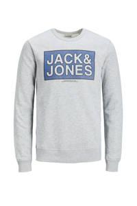 JACK & JONES JUNIOR sweater Tube met logo lichtgrijs, Lichtgrijs