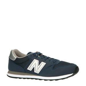 500  sneakers donkerblauw/wit/zilver