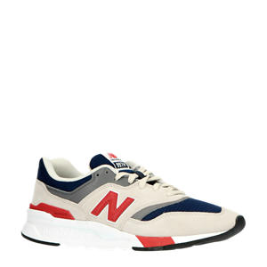 997  sneakers grijs/donkerblauw/rood