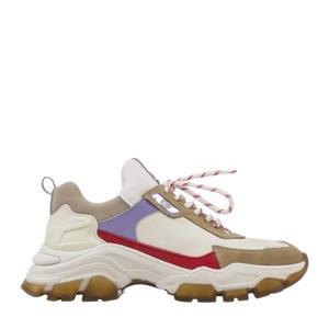 Tayke-Over  leren chunky sneakers beige/multi