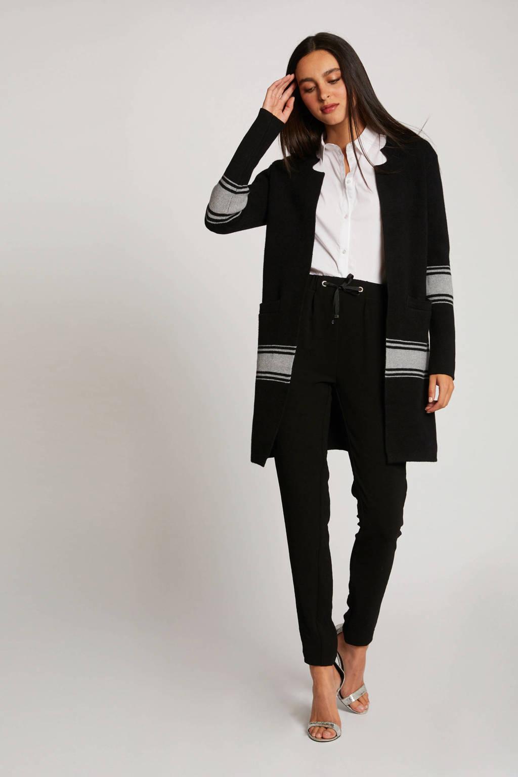 Morgan gestreept vest zwart, Zwart
