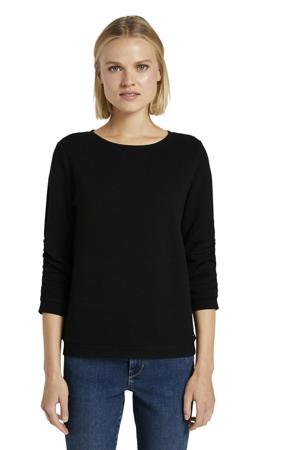 sweater met textuur zwart
