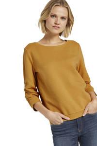 Tom Tailor Denim sweater met textuur okergeel, Okergeel