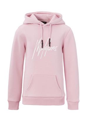 hoodie Signature met logo roze
