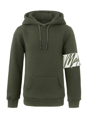 hoodie Captain met logo groen