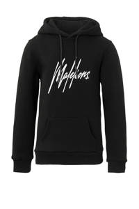 Malelions hoodie Signature met logo zwart, Zwart