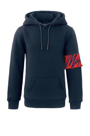 hoodie Captain met logo donkerblauw