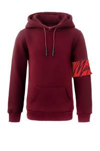 Malelions hoodie Captain met logo donkerrood, Donkerrood