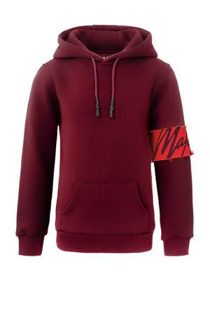 hoodie Captain met logo donkerrood