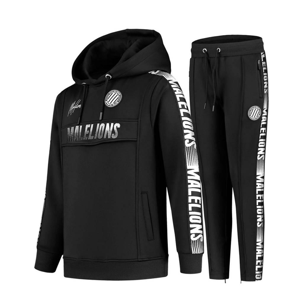 Malelions   trainingspak zwart/wit, Zwart/wit
