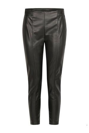 coated slim fit tregging zwart
