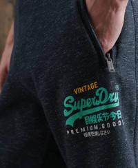Superdry gemêleerde regular fit joggingbroek donkerblauw/blauw, Donkerblauw/blauw