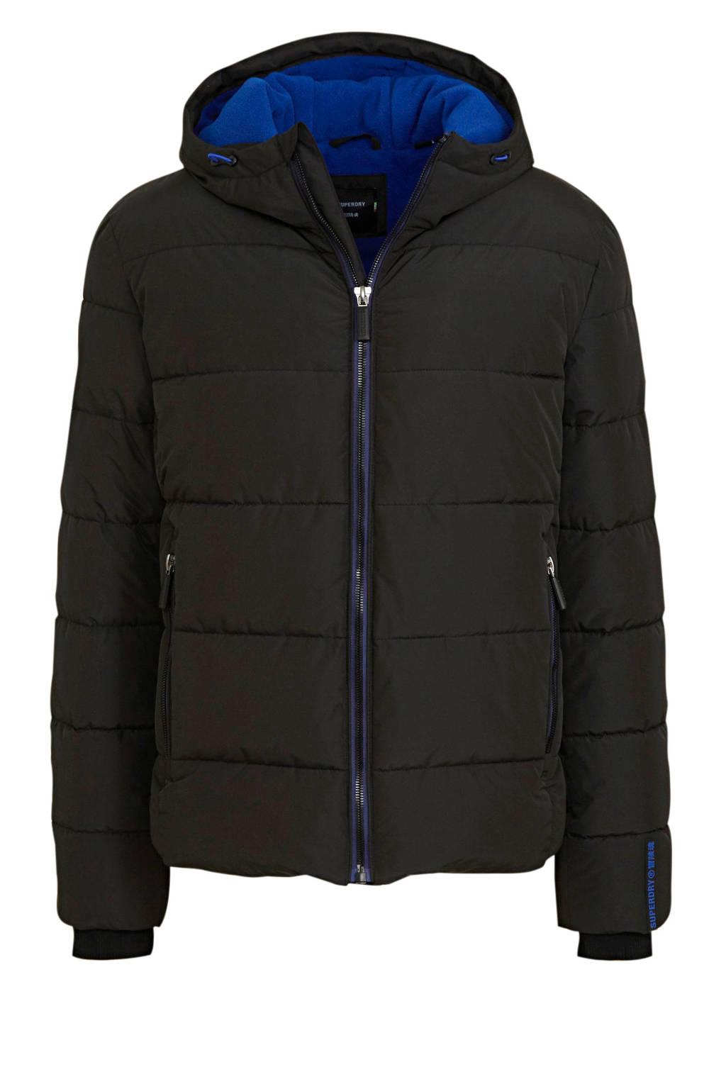 Superdry winterjas zwart, Zwart