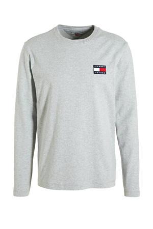 T-shirt met logo grijs/blauw/rood