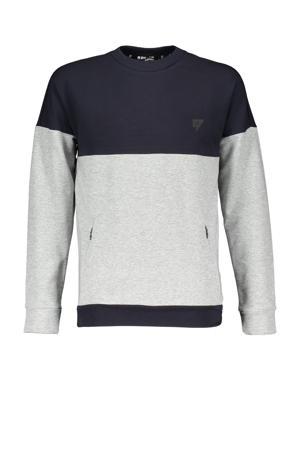 sweater Kone lichtgrijs melange/donkerblauw