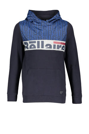 hoodie Kaso met printopdruk donkerblauw/wit