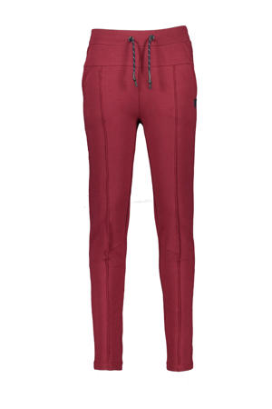 slim fit broek Shino donkerrood