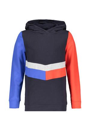 hoodie Kako donkerblauw/oranje/wit