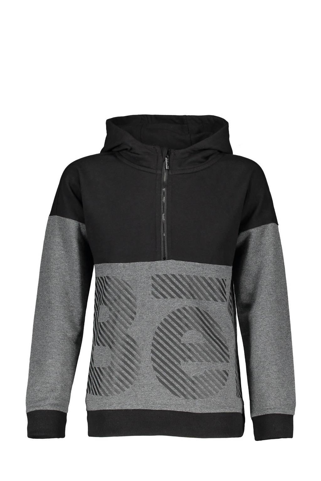 Bellaire hoodie Kakoi met printopdruk antraciet, Antraciet