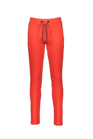 slim fit broek Sven donker oranje