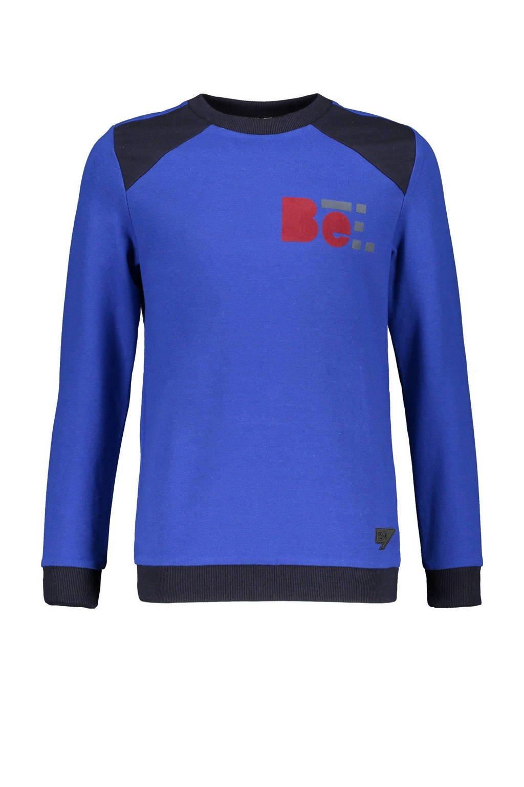 Bellaire longsleeve Kees blauw/donkerblauw/rood, Blauw/donkerblauw/rood
