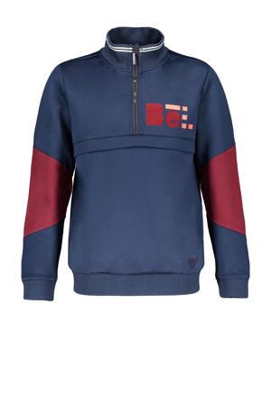 sweater Kennis met printopdruk donkerblauw/donkerrood