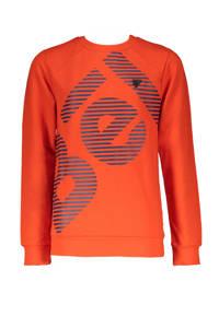 Bellaire sweater Kone met logo donker oranje, Donker oranje